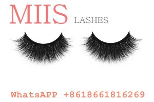 customized handmade human hair lashes